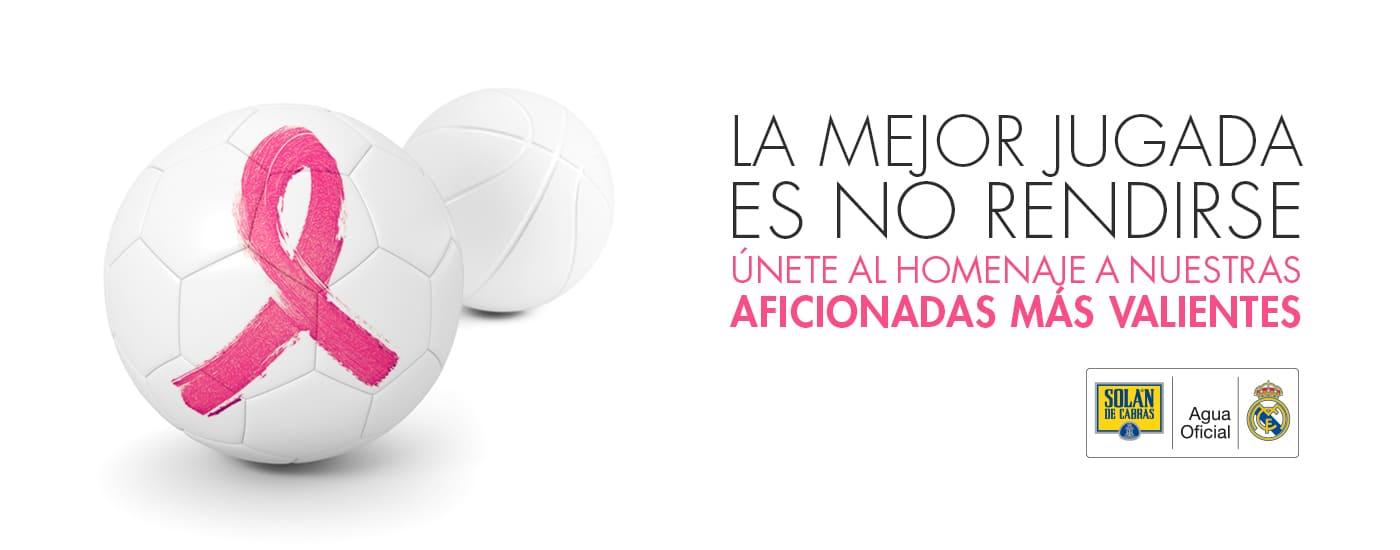 homenaje del Real Madrid. Cáncer de mama