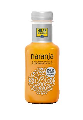 Solán de Cabras. Bebidas sin gas naranja