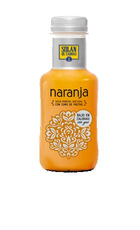 Solán de Cabras naranja botella