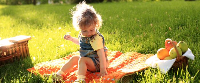 foto niña picnic