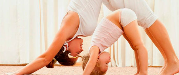 Practice yoga with your baby