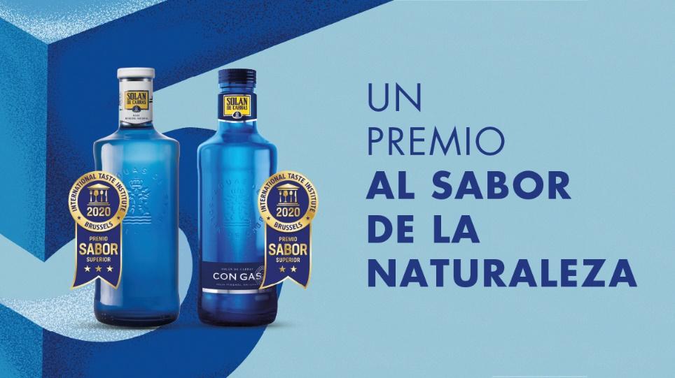 Solán de Cabras, con y sin gas, galardonada en los Premios ITQi por su Sabor Superior